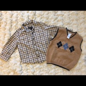 3T Janie and Jack sweater vest with matching shirt